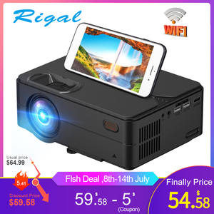 Rigal Mini Projector Multi-Screen Movie Wifi RD813 Home Theater 1080P Support 1280x720p