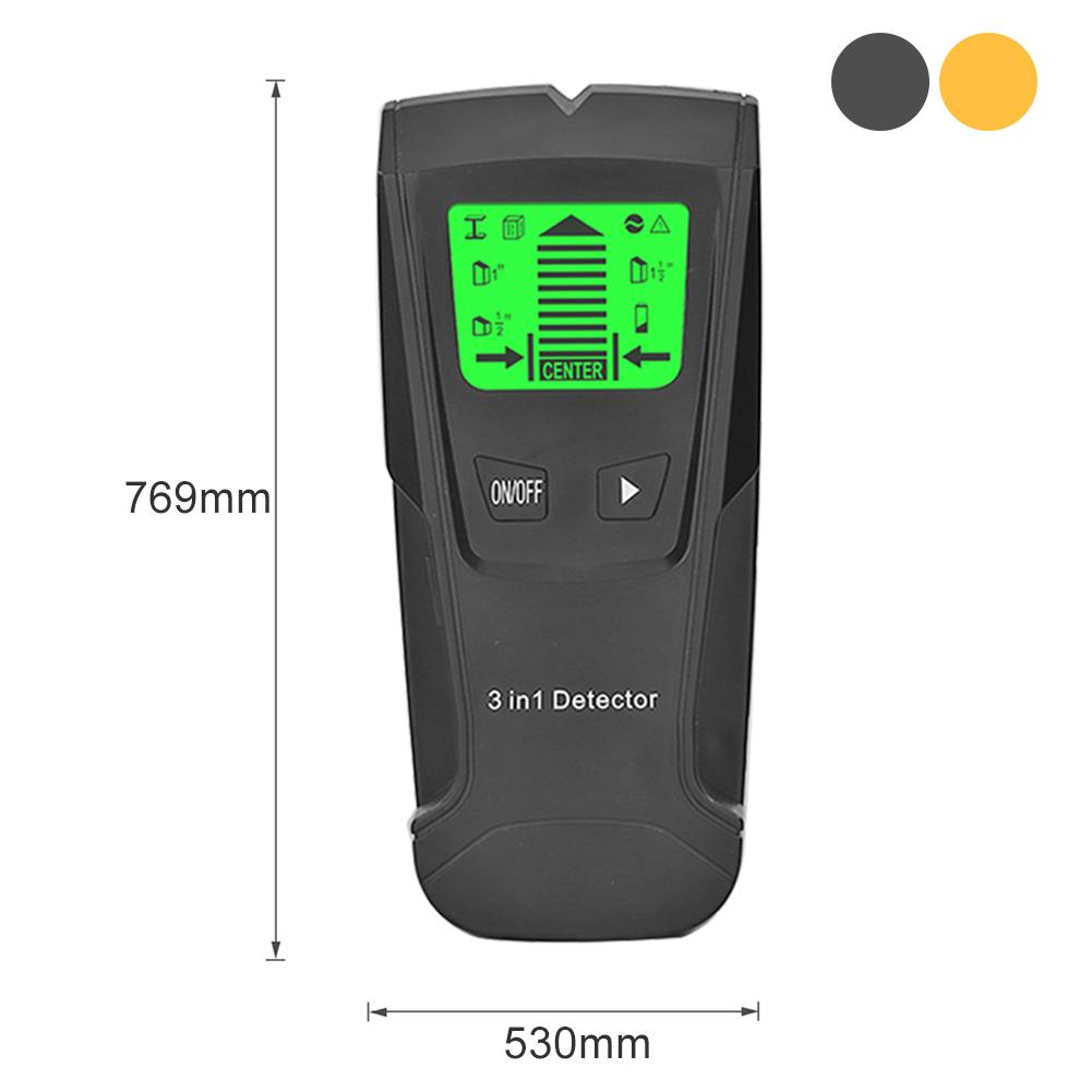Digital Wall Scanner Detect Metal Wood AC Live Wire Automatic Calibration 3 In 1 Scanner Wooden Stud Finder