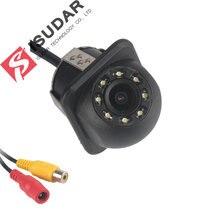 Isudar câmera traseira 8 led hd com visão noturna 105 graus à prova dwaterproof água câmera reversa imagem de cor