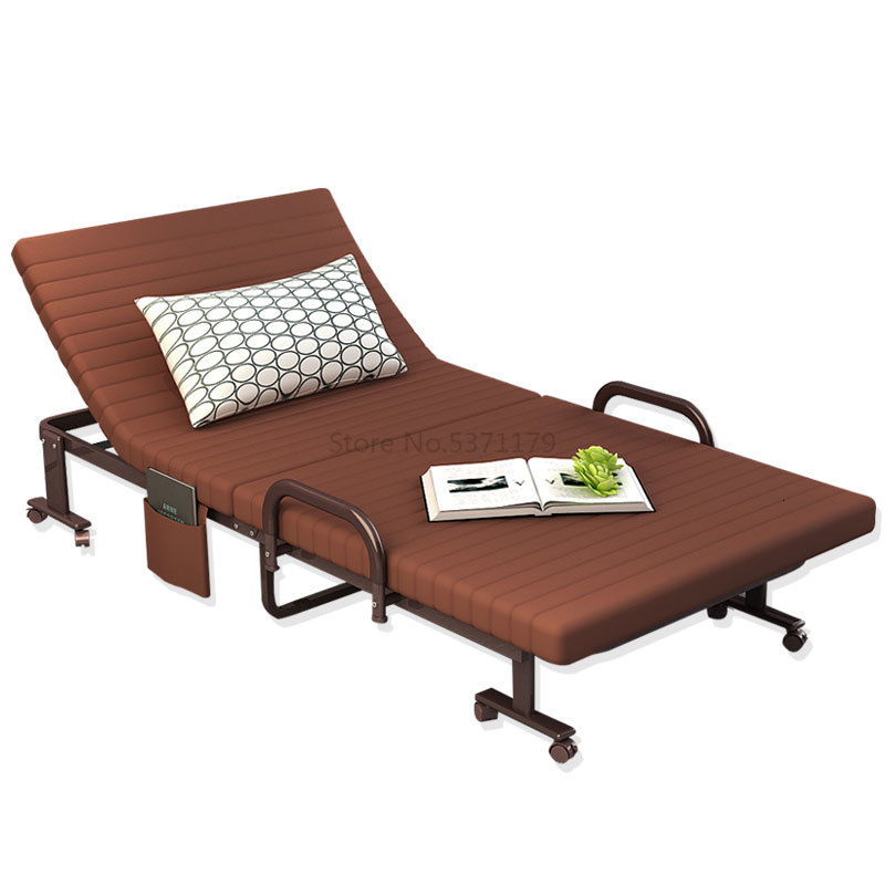 Folding Bed, Single Bed, Domestic Double Lunch Break Bed, Office Nap Bed, Simple Bed, Army Bed, Hospital Escort Bed