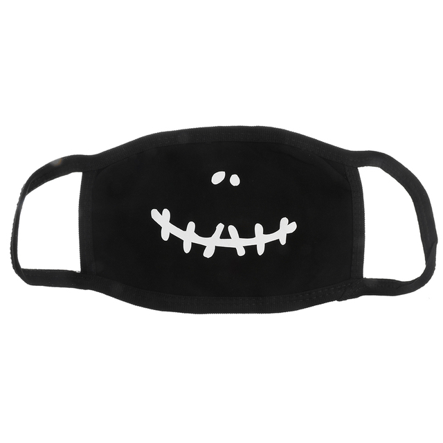 PM2.5 Fashion Black Luminous Mouth Mask Anti Dust Mask Windproof Mouth-muffle Bacteria Proof Flu Face Masks Care Reusable 1