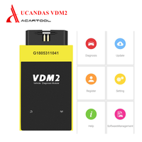 Multi language UCANDAS VDM2 Full System V5.2 Bluetooth/Wifi OBD2 Scanner for Android same as x431 pro Diagnostic Tool