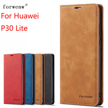 For Huawei P30 Lite Case Magnetic Phone Case For Huawei P30 Lite/Nova 4e Cover High Quality Flip Leather Stand Case цена и фото