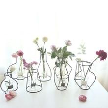 Домашние вечерние украшения Ваза абстрактные черные линии Минималистичная абстрактная железная ваза сушеные Цветочные стеллажи для вазы скандинавские цветочные украшения