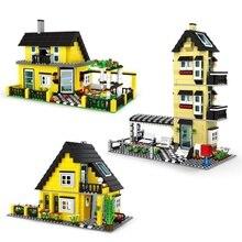 Building-Blocks Educational-Toys Particle DIY Small Villa Series Christmas-Gifts Garden