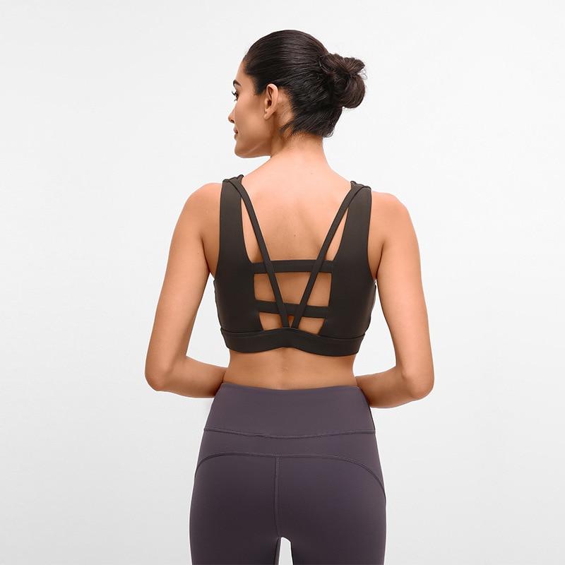 Nepoagym HEART Women Workout Bra Sport Push Up Sports Wear for Gym  Fitness