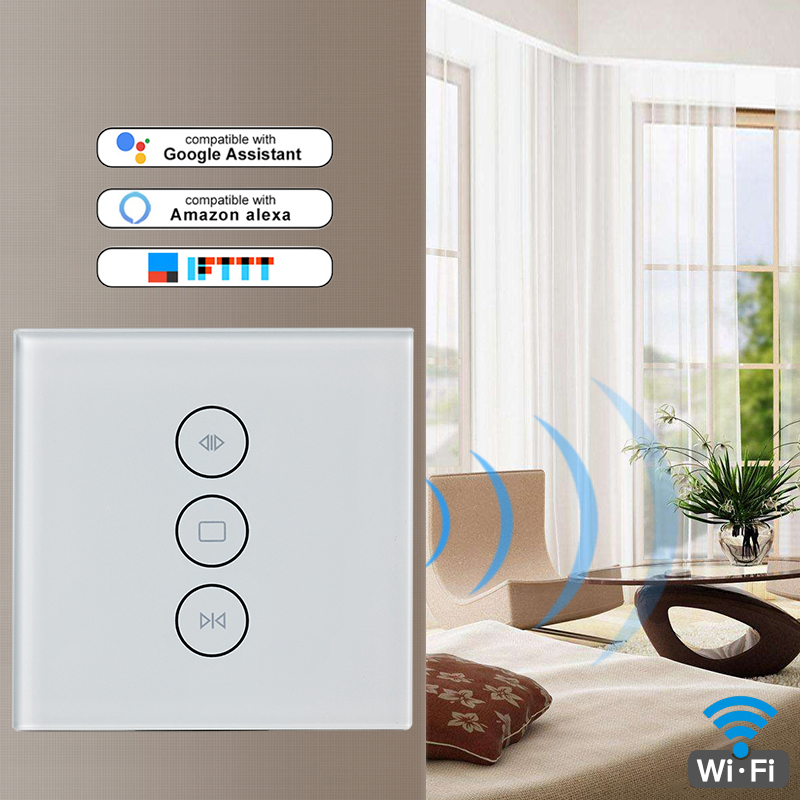 US US WiFi Smart Curtain Switch Life Smart Your For Electric Motorized Blind Blind Shutter Works With Alexa Google Home