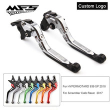 CNC Brake Clutch Levers Handle For Ducati Hypermotard 939 SP 2018 Scrambler Cafe Racer 2017 Motorcycle Brake Levers motorcycle brake clutch levers five colors for ducati 821 monster dark stripe hypermotard scrambler motorcycle accessories