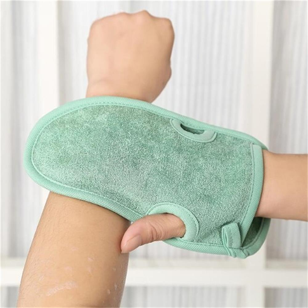 Unisex Body Cleaning Scrub Mitt Rub Dead Skin Removal Shower Spa Exfoliator Two-sided Bath Glove Beauty Clean Care