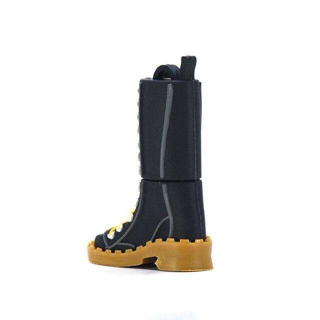 Chaussures cartoon pendrive 32GB 16GB 8GB 4GB usb lecteur flash 64GB 128GB 256GB mémoire u stick noir stylo lecteur