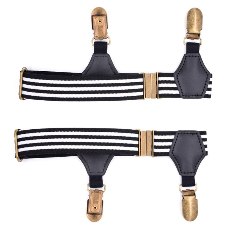 2020 New 1Pair Elastic Mens Sock Remains Leg Suspenders Garter Clip Buckle Non-slip Clamp