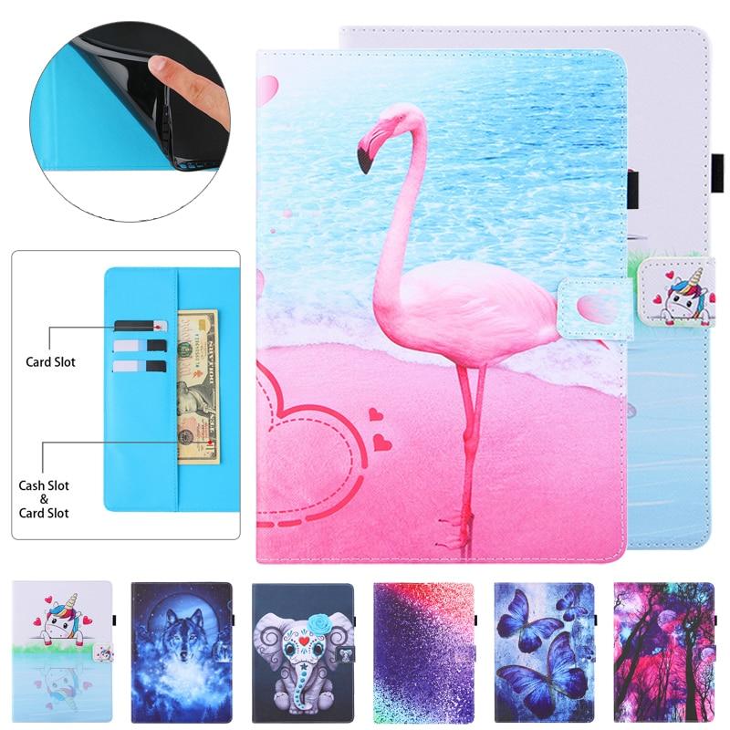 10 1 polegada bonito flamingo unicórnio carteira