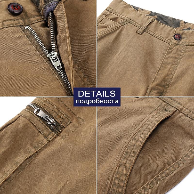 Men's Autumn Winter Cotton Cargo Pants Casual Military Joggers Pants Trousers for Men Camouflage Streetwear Tactical Pants