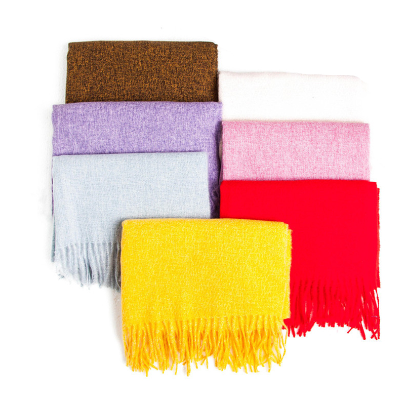 New 2020 Solid Color Scarf For Women Unisex Tassel Tippet Pashmina Shawls Winter Scarves For Men Woman Wraps Stole Foulard Femme