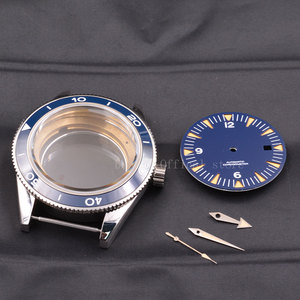 Image 2 - Watch Case  41mm Ceramic Bezel Mens316 SS dial hands fit Miyota 8205/8215,ETA 2836,DG2813/3804 mechanical Wristwatch waterproof