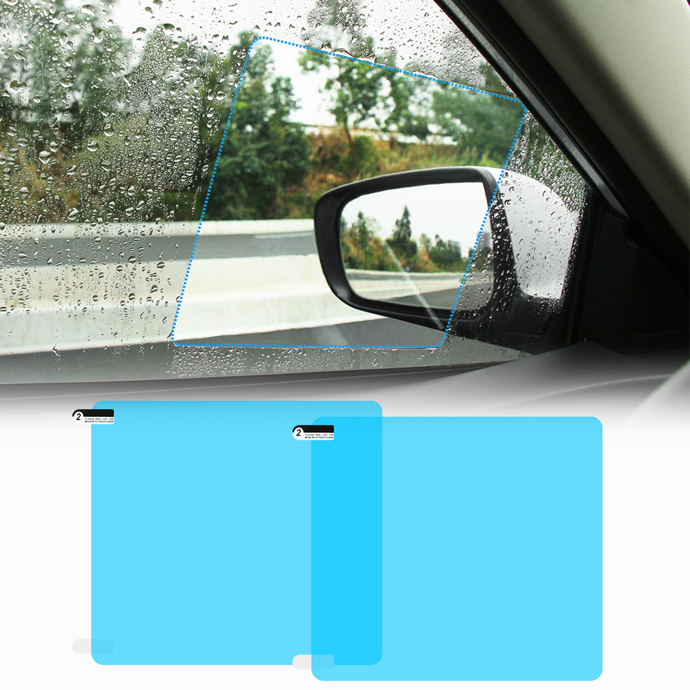 Новинка, 1 пара, автомобильная противотуманная пленка, противотуманное покрытие, непромокаемая гидрофобная зеркальная защитная пленка зад...