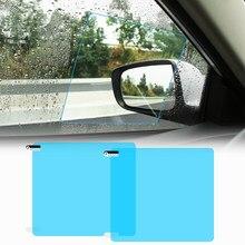 Novo 1 par auto carro anti névoa de água filme anti nevoeiro revestimento à prova chuva hidrofóbico espelho retrovisor película protetora 2 tamanhos