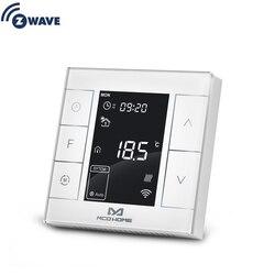 Z Wave Plus вода/электрическое отопление термостат умный дом Z волна программируемый термостат встроенный температуры и влажности