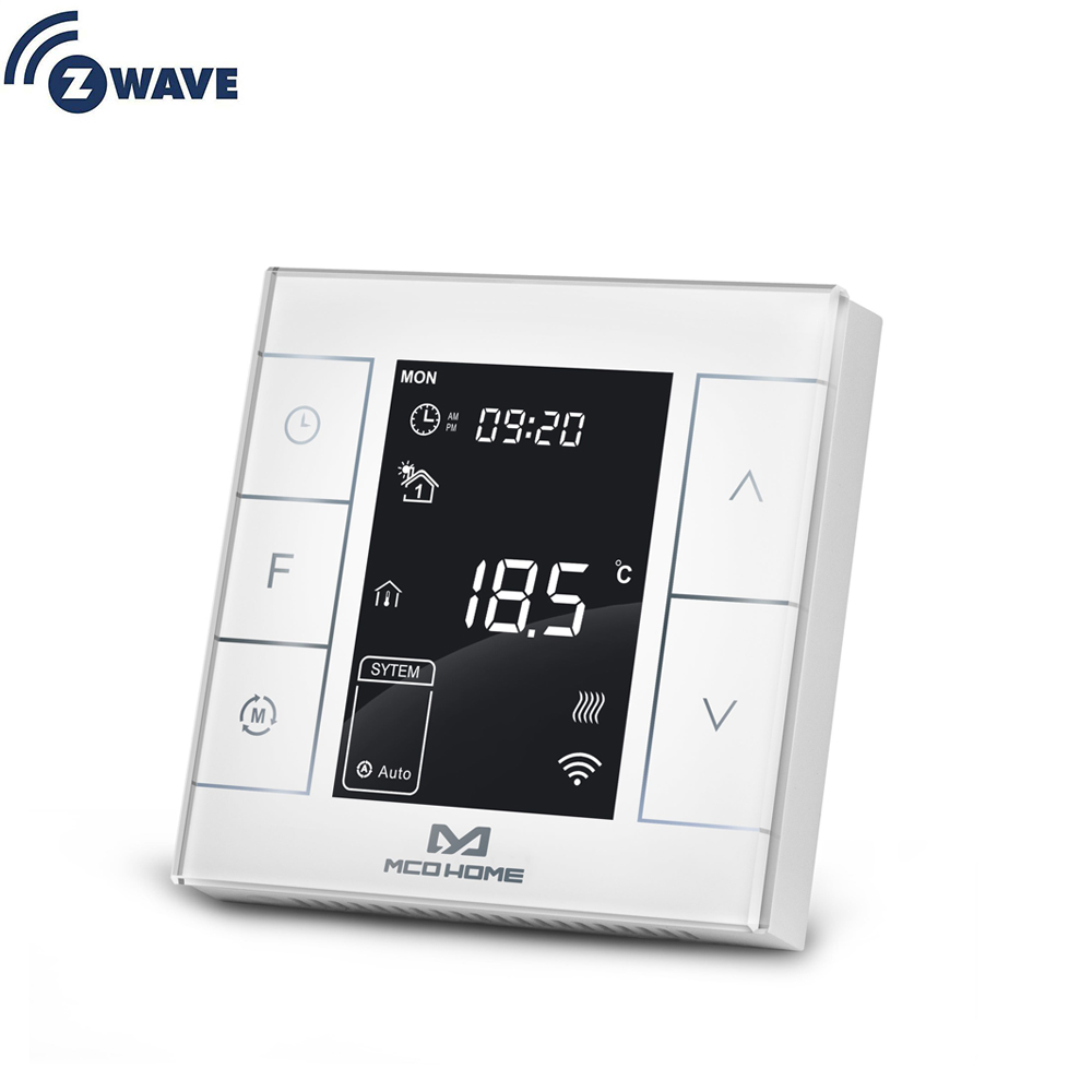 Z Wave Plus Water /Electrical Heating Thermostat Smart Home Z Wave Programmable Thermostat Built In Temperature And Humidity