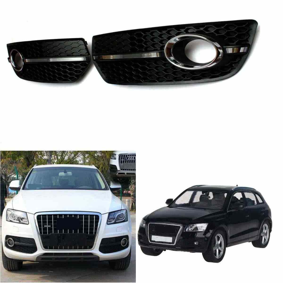 CHROME S-LINE STYLE FOG LIGHT COVER GRILLS Grill For 2009-2011 VW Audi Q5