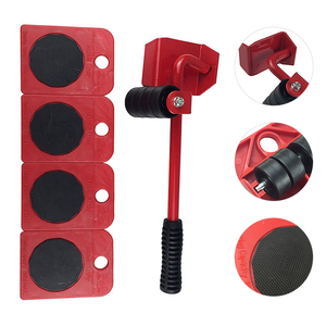 Image 5 - 5 Teile/satz Möbel Heber Sliders Kit Beruf Schwere Möbel Roller Bewegen Werkzeug Kit Rad Bar Mover Gerät Max Bis 100 kg/220Lbs