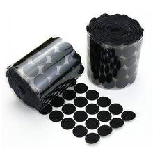 10/15/20/25mm auto adesivo prendedor fita velcros pontos branco preto gancho laço adesivo redondo forte klittenbandsluiting tap
