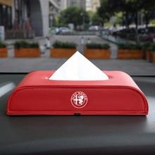 Boxes Storage-Holder Car-Tissue-Box for Alfa Alpha Romeo 159/147/156/.. 1pcs Block-Type