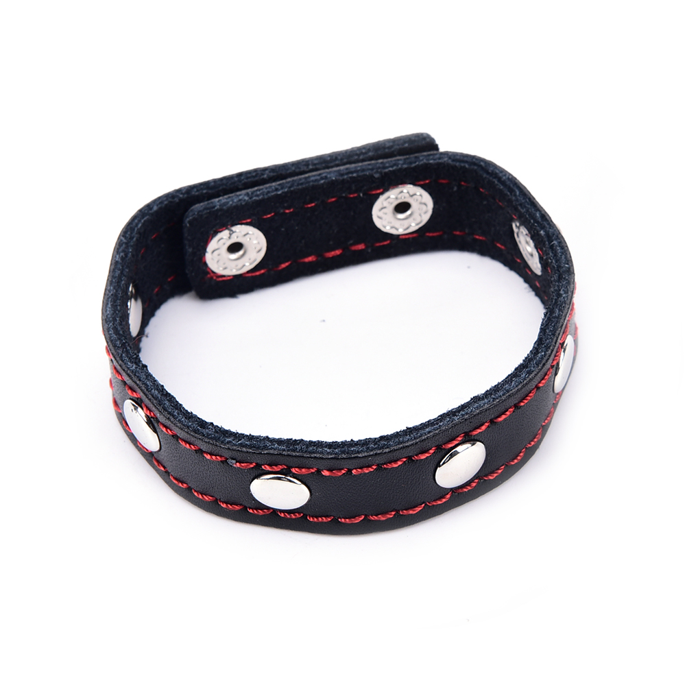 PU Leather Adjustable Cock Rings Delay Ejaculation Cock Rings Black Red Blue Sex toys Products For Men Penis Rings Sex Cockring