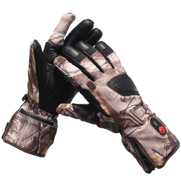 Heated Hunting Gloves Carbon Fiber Transfer Running Skiing Bicycling  Electric X-tiger 2020 Luva De Ciclismo Tactical Gloves 1