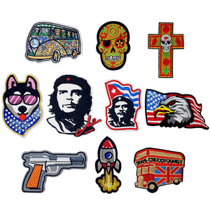 Ernesto Che Guevara Knitting Textile Woven Sewing Accessories Patch Piece Popular Stripes Applique Stickers Personalised(China)