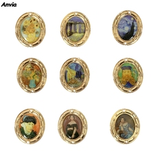 Fashion Van Gogh Enamel Pin Collection Art Oil Painting Brooches For Women Lapel Pins Badge Collar Jewelry Vintage Metal 2020