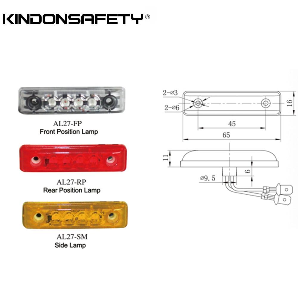 6 шт.! E-MARKED светодиодный передний позиции светильник с 4 шт. SMT СВЕТОДИОДНЫЙ s, испускает белый светильник, PMMA, прозрачные линзы, 12V