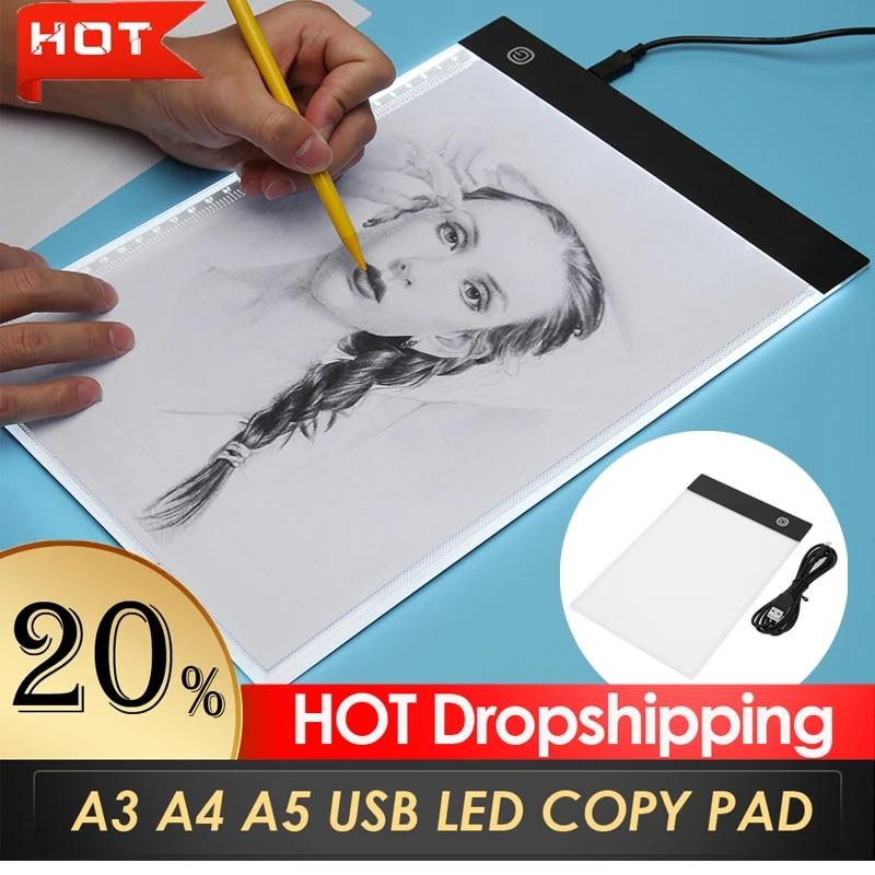 A4 USB LED Licht Drawing Touchpad Grafiktablett Sketch Tracing-Board Zeichnung
