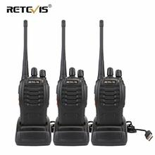 Walkie Talkie 3 adet Retevis H777 16CH UHF Walkie Talkie kullanışlı iki yönlü radyo Comunicador için fabrika/depo/inşaat sitesi