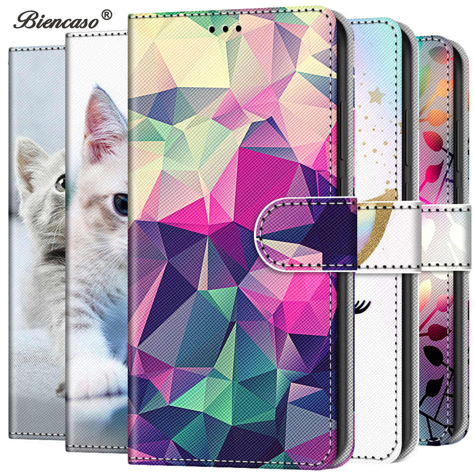 Cute Cat Wallet Flip PU Leather Case For Xiaomi CC9 CC9e 9 SE 8 Lite 9T 5X 6X A1 A2 A3 Mi Play Stand Coque For Redmi 6 Pro Cover