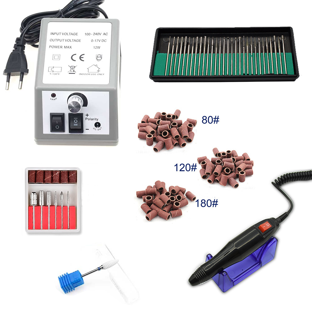 20000RPM Electric Nail Drill Machine Nail Art Equipment Manicure Pedicure Files Accessory Pedicure Kit Nail Drill File Bit