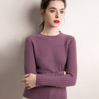 Hot Sale Soft Pullovers Women 100% Goat Cashmere Knitted Sweaters Ladies O Neck 4Colors 2019 New Fashion Jumpers