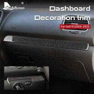 Airspeed Lhd Rhd Voor Volkswagen Vw Golf 6 Gti MK6 2008-2013 Accessoires Carbon Sticker Center Console Strip interieur Trim
