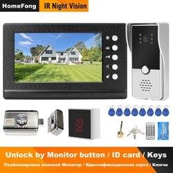 HomeFone wideodomofon do domofonu domowego z blokadą zestawy kontroli dostępu 3A regulacja mocy Night Vision przesuwanie karty odblokuj