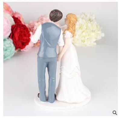 Resin Craft Ornament We Marriage the Groom Bride Cake Decorations Wedding Props New House Decorations