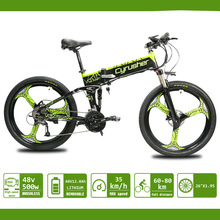 Mountain-Bike Motor Ebike-Xf770 26-Inch Lithium-Battery Folding Electric Full-Suspension