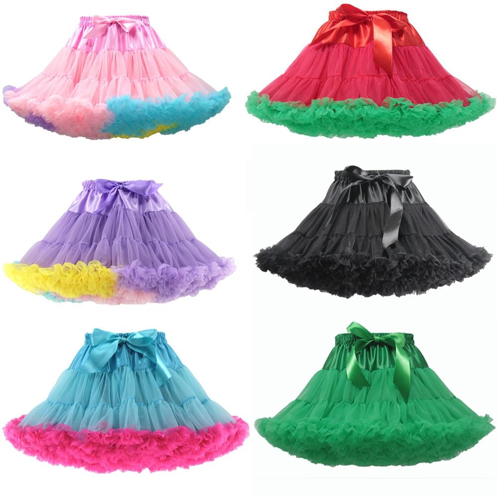 Children's Super Puffy Tutu Skirt Lolita Dress Net Gauze Rainbow Boneless  Soft Lolita Dress for Sweet Girls Petticoat Plus Size