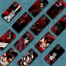 Hellsing Alucard Phone Case For Iphone 5 5S SE 2020 6 6S 7 8 Plus 11 12 Mini X XS XR Pro Max black Bumper Painting Etui Soft