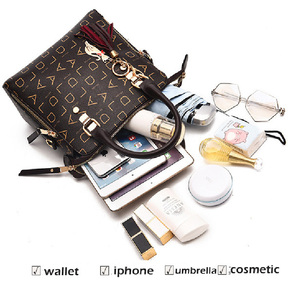 Image 3 - YIZHONG אופנה Lettet נשים כתף תיק שליח שקיות גדול קיבולת עור ארנקי תיקי מצמד גבירותיי יד שקיות