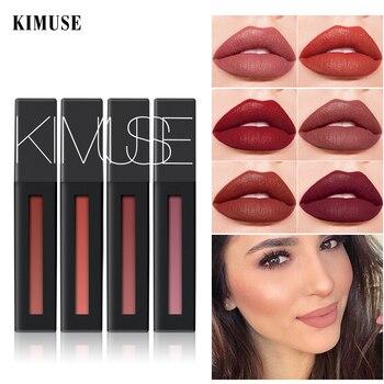 KIMUSE Matte Liquid Lipstick Waterproof Long Lasting Velvet Lip Gloss Makeup Smooth Pigment Lip Tint Lip Glaze Lips Cosmetics