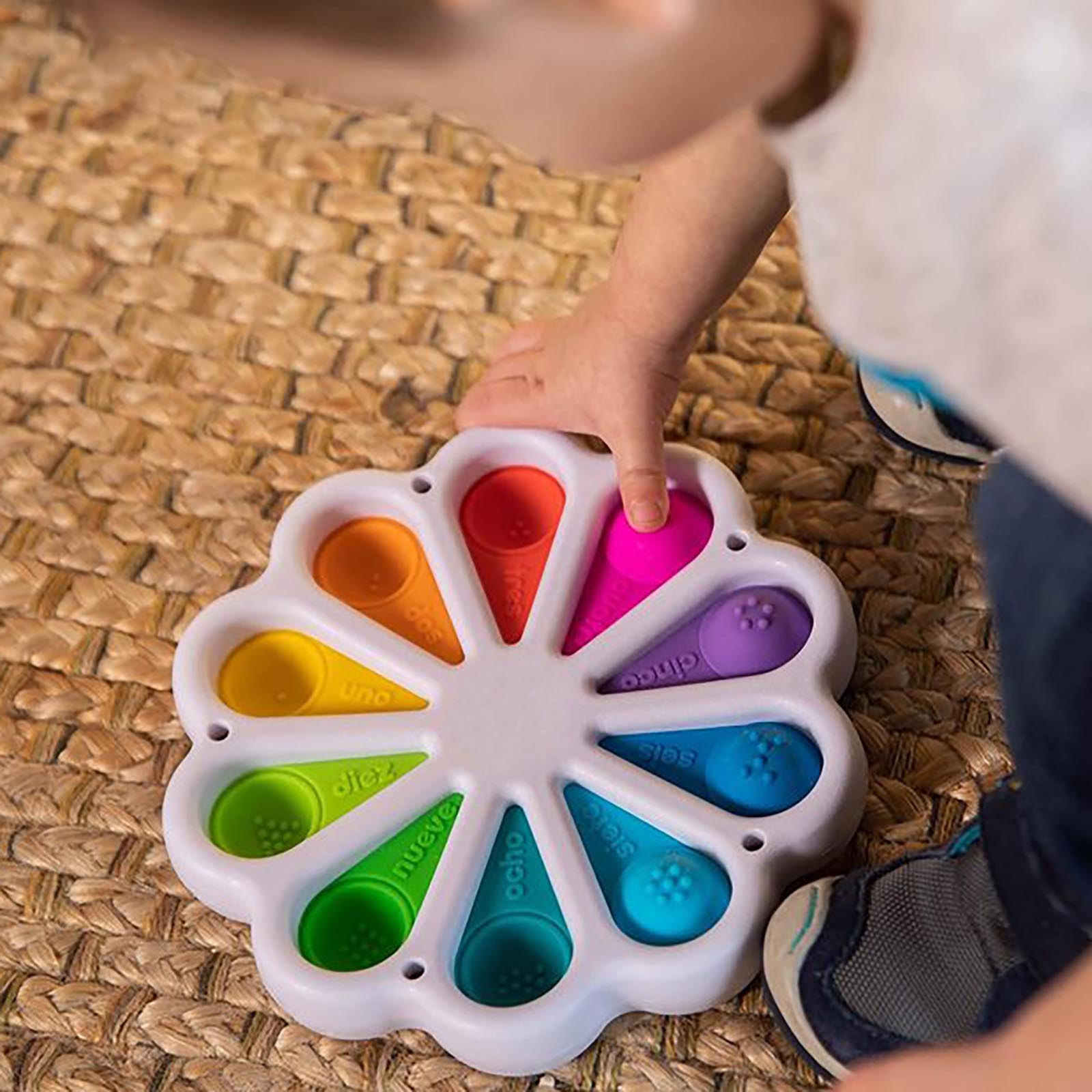 Fidget Simple Dimple Toy Flower Fidget Toys Stress Relief Hand Toys Early Educational img5