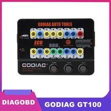 GODIAG herramientas automáticas, GT100 OBD II, caja de rotura, conector ECU
