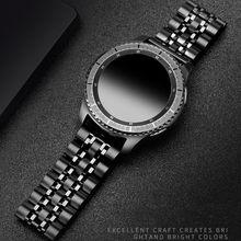 Zegarek Galaxy 46mm pasek do Samsung Gear S3 Frontier pasek GT2 S 3 22mm bransoleta ze stali nierdzewnej Huawei zegarek GT 2 pasek 46mm 22