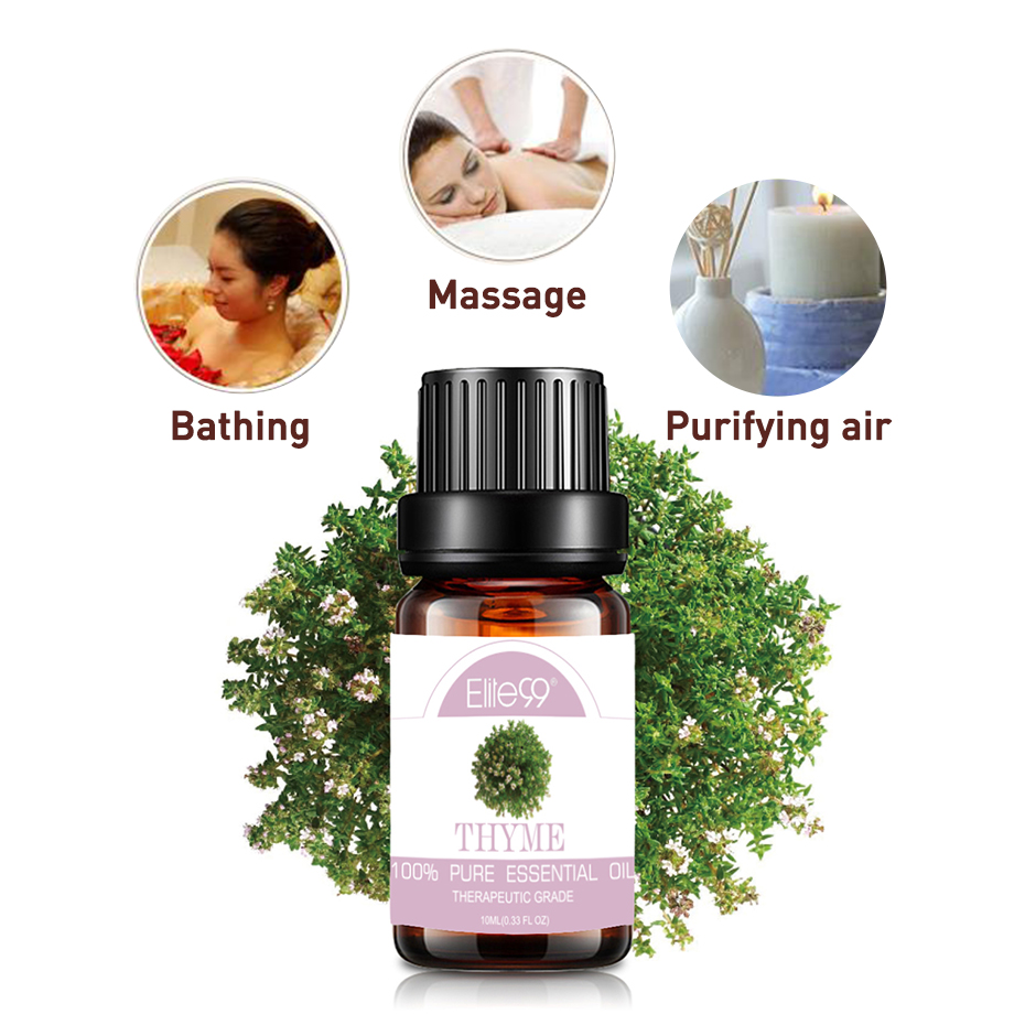 Elite99 10ml Thyme Essential Oils for Air Freshening Aromatherapy Diffusers Bathing Body Massage Skin Care Pure Essential Oil image