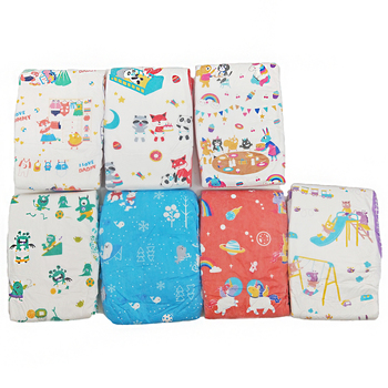 TEN@NIGHT Rainbow Weekly Diaper ABDL Panda Pattern Christmas Diaper Stretchy Waist Extra Large Size DDLG Diapers 7pcs In A Pack